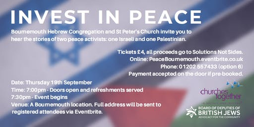 Invest in Peace - Bournemouth 2019