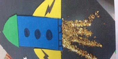 Nailsworth Library- Paper Rocket Craft Activity