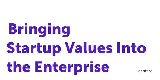 Bringing Startup Values Into the Enterprise