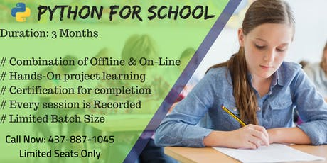 Kids Python Summer Classes in Mississauga - 1 Free Session tickets