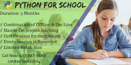 Kids Python or Coding Summer Classes in Mississauga - 1 Free Session