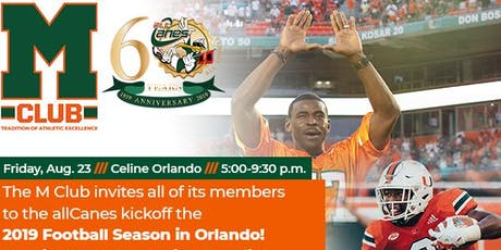 MClub and allCanes Football Kickoff Party tickets