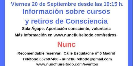 Información sobre retiros y cursos de consciencia entradas
