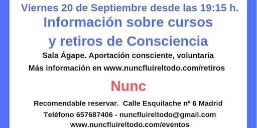 Información sobre retiros y cursos de consciencia