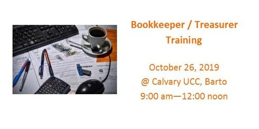 Bookkeeper/Treasurer Training 2019