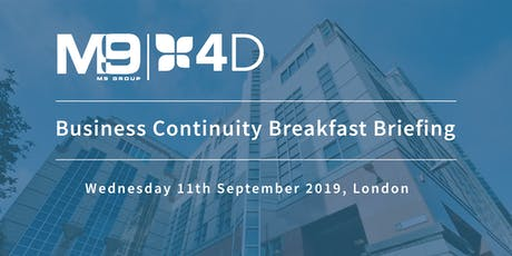 Business Continuity Breakfast Briefing tickets