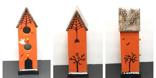 Paint-Your-Own Haunted Birdhouse
