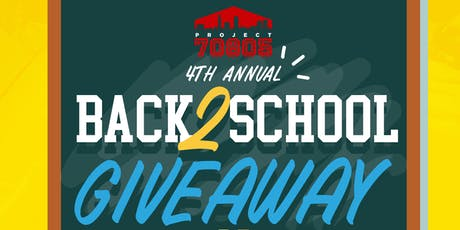 PROJECT 70805 Back 2 School Giveaway tickets