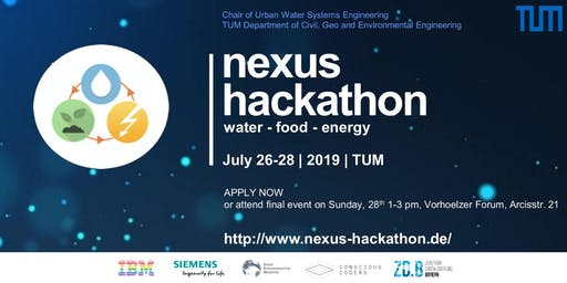 The Next Frontier for Disruption: Environmental challenges meet innovation & technology - Nexus Hackathon final event