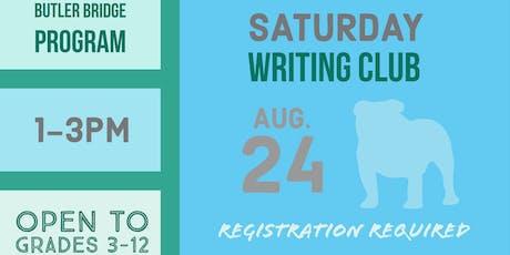 Saturday, August 24 - Writing Club tickets