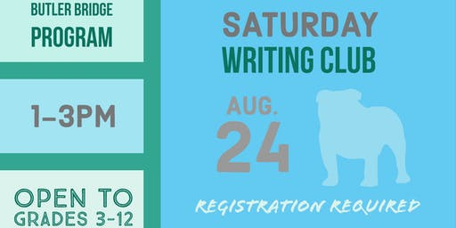 Saturday, August 24 - Writing Club