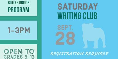 Saturday, September 28 - Writing Club tickets