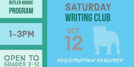 Saturday, October 12 - Writing Club tickets