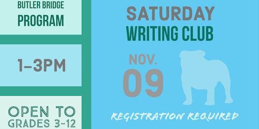 Saturday, November 9 - Writing Club
