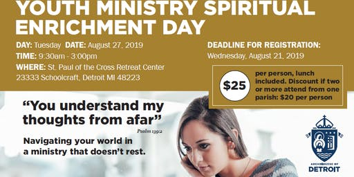 Youth Ministry Spiritual Enrichment Day