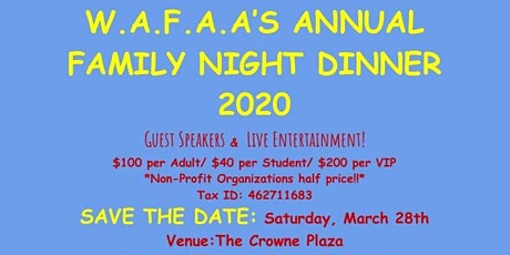 Annual Family Night Dinner 2020 tickets