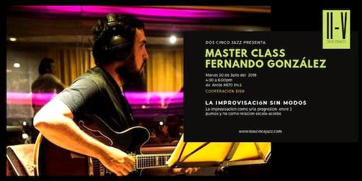 Master Class Fernando González