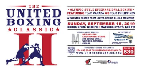 The United Boxing Classic | CANADA VS PHILIPPINES tickets