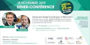 """Dîner- Conférence """"Spécial 25 ans de la CDEC de..."""