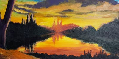 Summer Sunset Painting Party at Brush & Cork