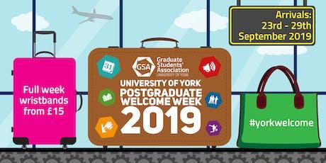 Postgraduate Welcome Week Wristbands 2019  tickets