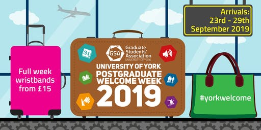 Postgraduate Welcome Week Wristbands 2019