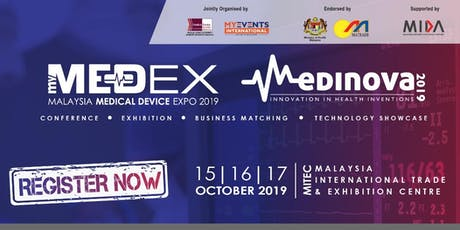 [FREE] MALAYSIA MEDICAL DEVICE EXPO 2019 (MEDEX) tickets
