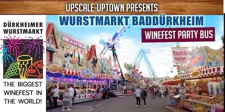 14TH SEPTEMBER WINEFEST BAD DURKHEIM SHUTTLE BUS Tickets