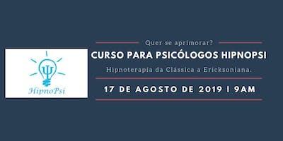 Curso HipnoPsi. Hipnoterapia da Clássica a Ericksoniana.