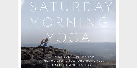 Saturday Morning Yoga with Clare Bethan at Mindful Store tickets