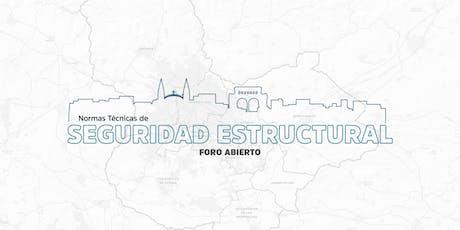"""Foro Abierto """"Normas Técnicas de Seguridad Estructural"""" tickets"""