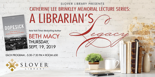 Catherine Lee Brinkley Memorial Lecture Series: Beth Macy