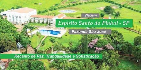 Viagem Espírito Santo do Pinhal – SP - quarto DUPLO - De 18 a 20/10/2019  ingressos