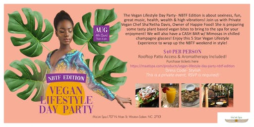 Vegan Lifestyle Day Party - National Black Theater Festival Edition