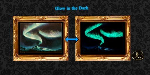 Glow in the Dark Sip and Paint: The Aurora