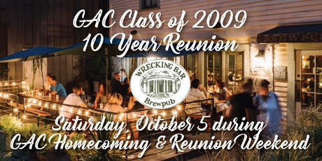 GAC Class of 2009 10-Year Reunion tickets
