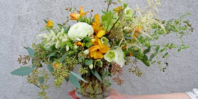 Floral Centerpiece Class with Two Stems of Joy