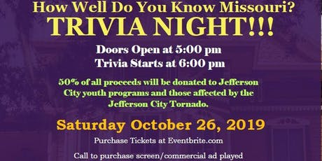 How Well Do you Know Missouri? Trivia Night!!!!!! tickets