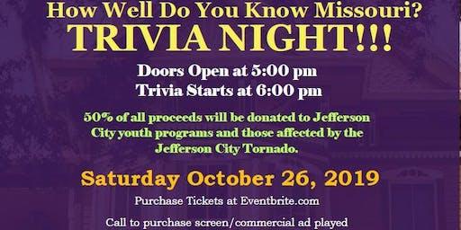 How Well Do you Know Missouri? Trivia Night!!!!!!