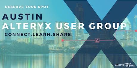 Austin Alteryx User Group Q3 Meeting  tickets