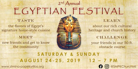 2nd Annual Egyptian Festival tickets