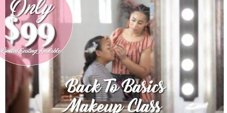 Back to Basics: Beginner Hands On Makeup Class tickets