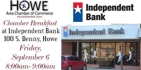 Howe Chamber Breakfast by Independent Bank tickets