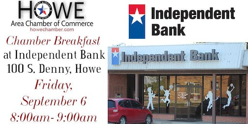 Howe Chamber Breakfast by Independent Bank