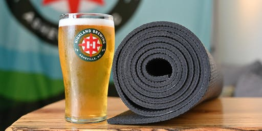 Work For Your Beer: Free Yoga at Highland Brewing Company