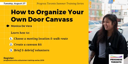 Summer Training Series: How to Organize Your Own Door Canvass