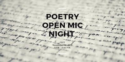 Poetry Open Mic Night with Ancient City Poets