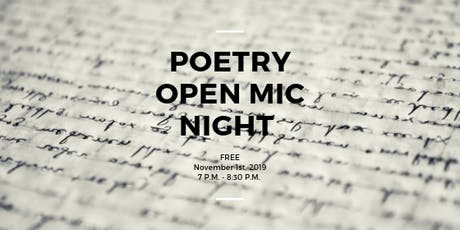 Poetry Open Mic Night with Ancient City Poets  tickets