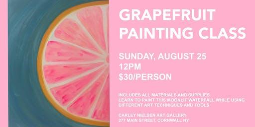 Grapefruit Painting Class