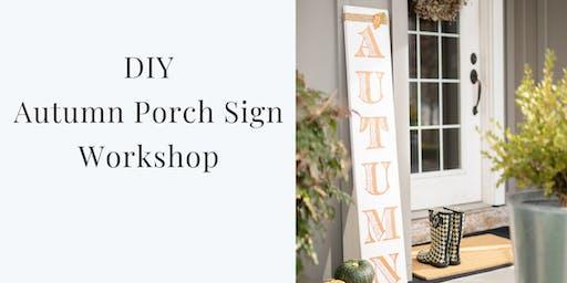 Autumn Porch Sign Workshop
